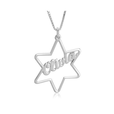 Star Pendant Name Necklace 1 item