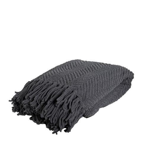 Louie Throw 125x150cm Charcoal 1 item