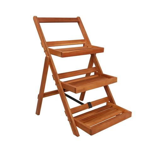 3 Tier Plant Stand 50 X 63 X 80 Cm Solid Acacia Wood 1 item