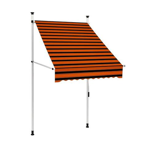 Manual Retractable Awning Orange And Brown 250 cm