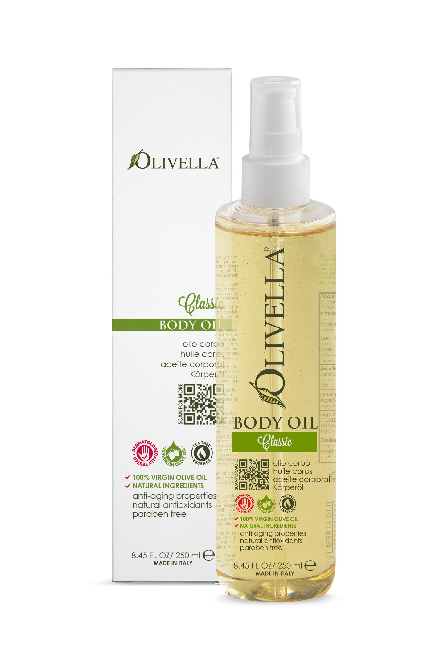 Olivella Body Oil (250 Ml) -classic