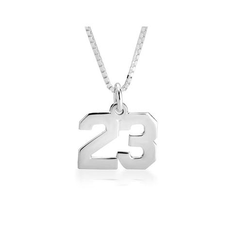 Sports Number Necklace 1 item