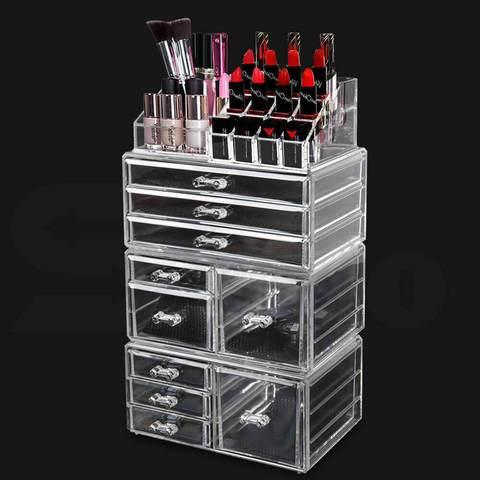 9 Drawer Clear Acrylic Cosmetic Makeup Organizer Jewellery Storage Box 1 item