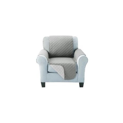 Sofa Cover Quilted Couch Covers Protector Slipcovers Grey 2-Seater