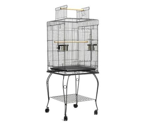 Pet Bird Cage With Stainless Steel Feeders 1 item
