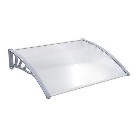 Door Canopy Grey Polycarbonate 150 x 100 cm