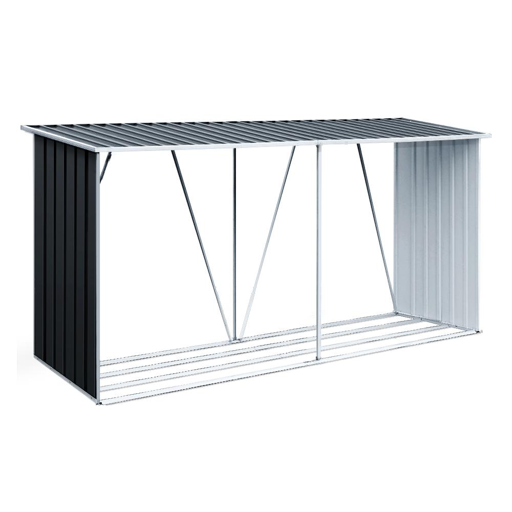Giantz Log Storage Shed Galvanised Steel Outdoor Garden Firewood 3.5m³ Shelter