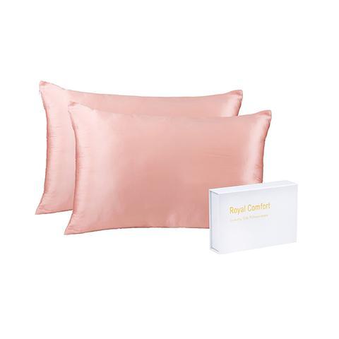 Royal Comfort Mulberry Soft Silk Hypoallergenic Pillowcase Twin Blush 1 item