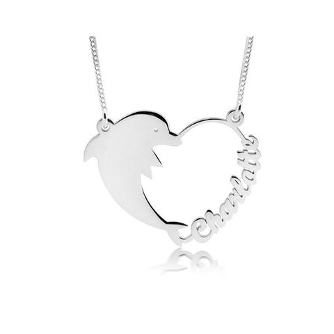 Dolphin Heart Necklace 1 item