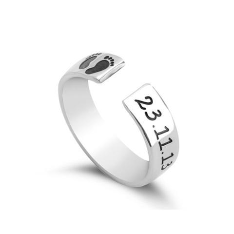 Custom Baby Footprint Ring 1 item