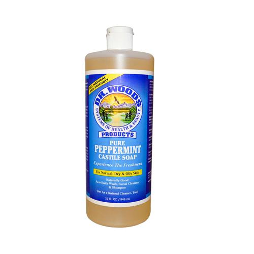 Dr. Woods Pure Castile Soap Peppermint (32 Fl Oz)