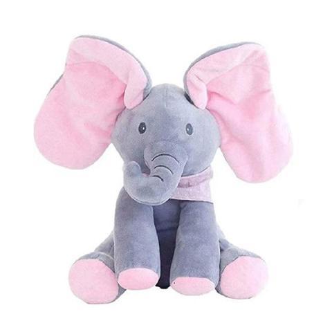 Peek-a-boo Singing Plush Toy grey 1 item