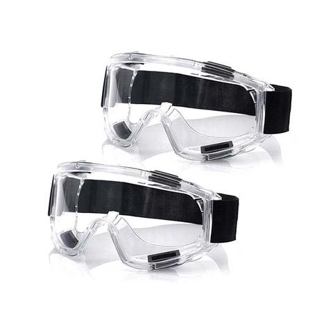 2x Clear Protective Eye Glasses Safety Windproof Lab Goggles Eyewear 1 item