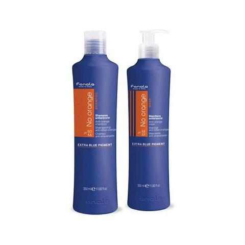 350ml Twin Pack Fanola No Orange Coloured Hair Mask And Shampoo 1 item