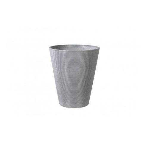47cm Decorative Textured Round Grey Planter 1 item