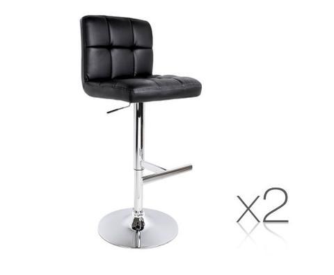 2x Pu Leather Kitchen Bar Stool Black 1 item