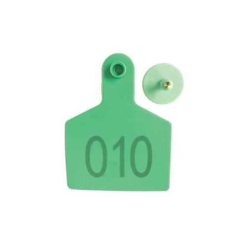 100 Pcs Cattle Ear Livestock Numbered Large Tags Yellow 1 item