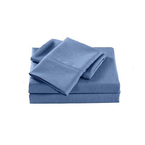 Royal Comfort 2000 Tc Bamboo Cooling Sheet Set Ultra Soft Bedding Denim Single