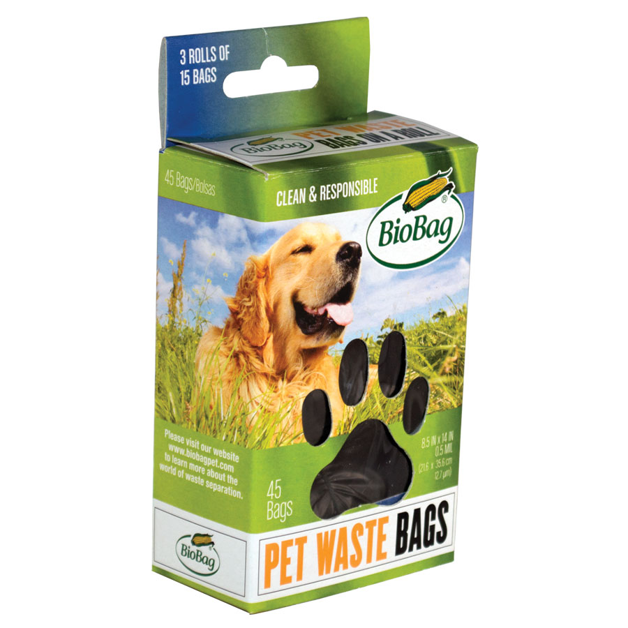Biobag Dog Waste Bags On a Roll (12 Pack) 45 Count