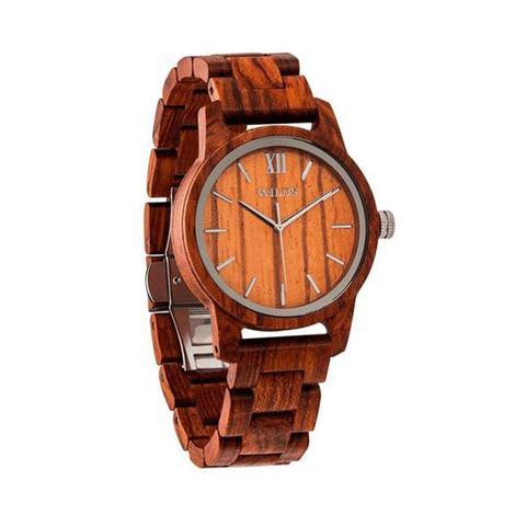 Mens Handmade Engraved Kosso Wooden Timepiece 1 item