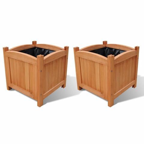 Wooden Planter 30 X 30 X 30 Cm (set Of 2) 1 item