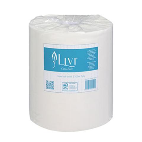 Livi Essentials Premium Roll Towels 1-ply 200m Roll Towels 1 item
