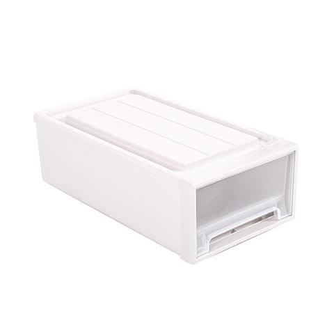 2 Pcs Plastic Drawer Shoes Storage Boxes Stackable Clothes Organiser 1 item