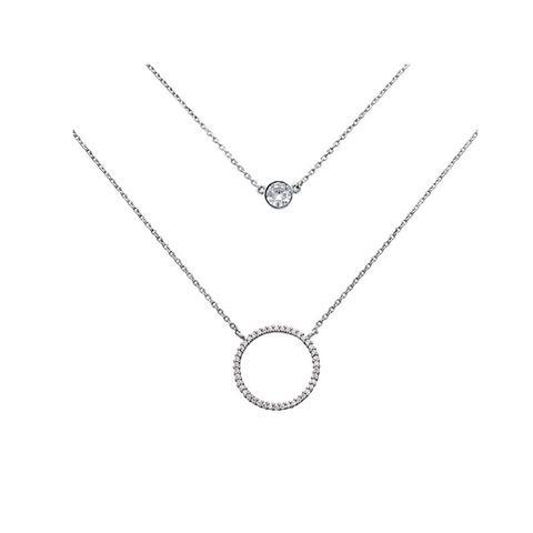 Layered Circle Necklace 1 item