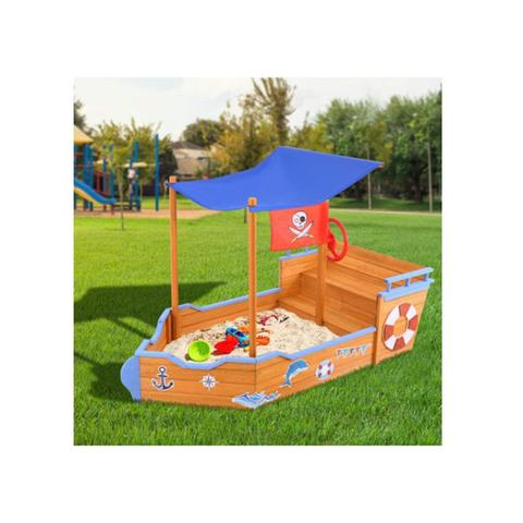 Keezi Boat Sand Pit With Canopy 1 item