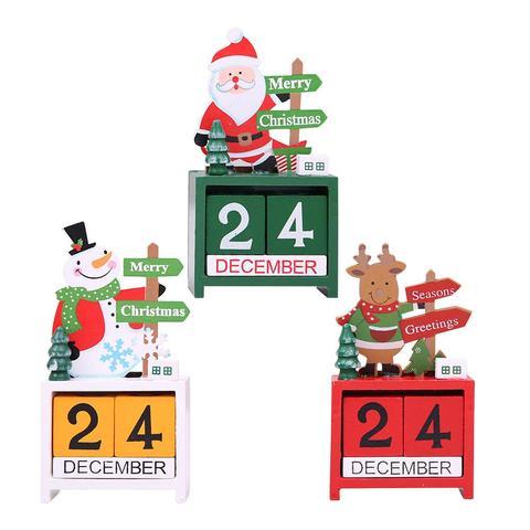 Christmas Wooden Calendar Blocks two pack