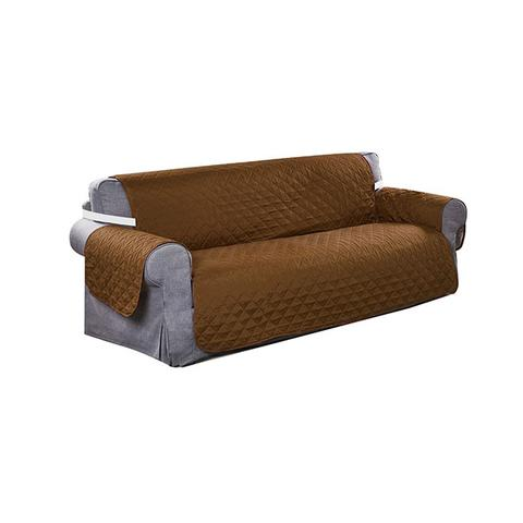 3 Seater Sofa Covers Quilted Couch Lounge Protectors Slipcovers Brown 1 item