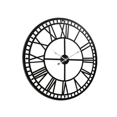Roman Numeral Metal Wall Clock 1 item