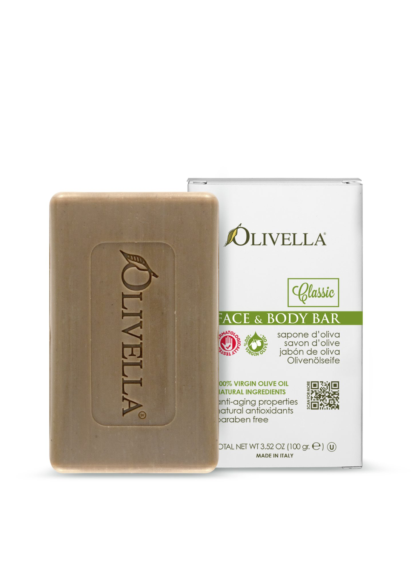 Olivella Face & Body Bar Soap - Classic Orginal (small Size)