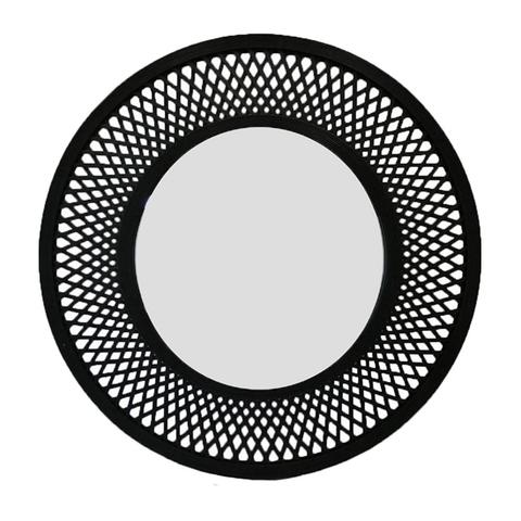 Duke Mirror 96.5x2.5x96.5cm Black 1 item