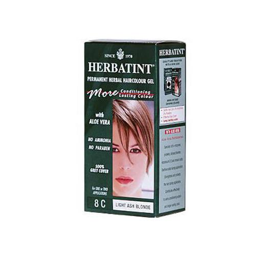 Herbatint Permanent Herbal Haircolour Gel 8c Light Ash Blonde 135 Ml