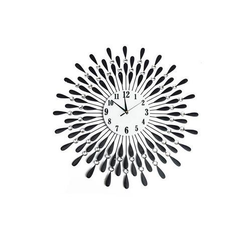 Large Modern 3 D Crystal Wall Clock 1 item