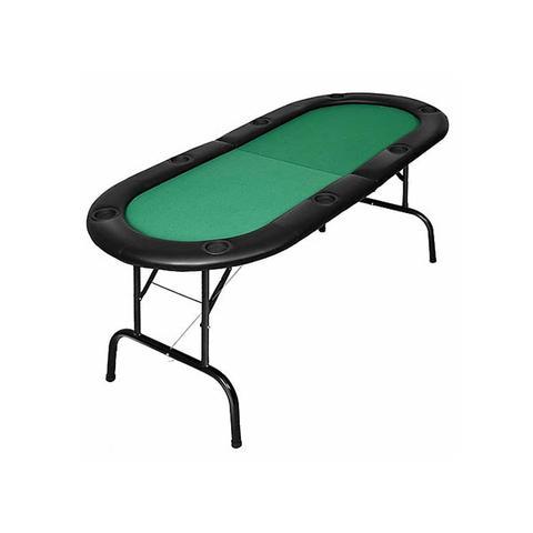 185cm 8 Player Folding Poker Blackjack Table With Cup Holder 1 item
