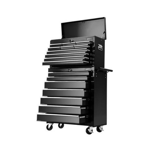 17 Drawers Tool Box Trolley Chest Cabinet Cart Garage Mechanic Toolbox Black & Grey 1 item