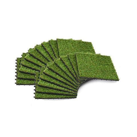 Artificial Grass Tiles 20 Pcs 30 X 30 Cm Green 1 item