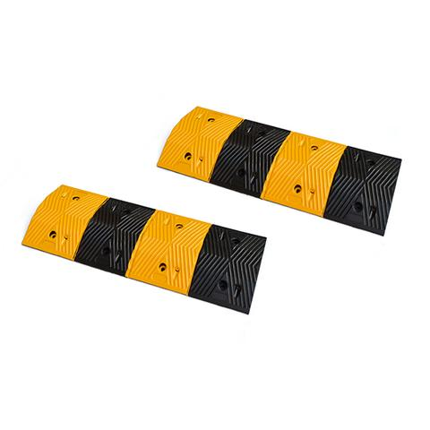Randy & Travis Pair of 1m Long 60t Load Rubber Modular Speed Humps 1 item