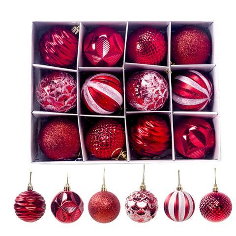 12 Pcs Christmas Supplies Gift Decoration Balls 6cm 1 item