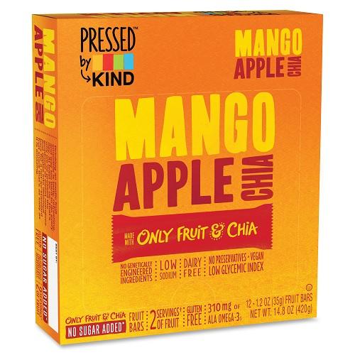 Kind Pressed Mango Apple Chia Bar (12x1.2 Oz)