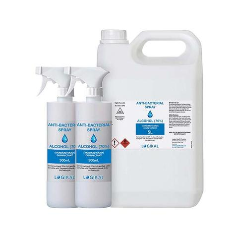 5l And 2x 500ml Disinfectant Alcohol Spray Bottle Tga Approved Refill 1 item