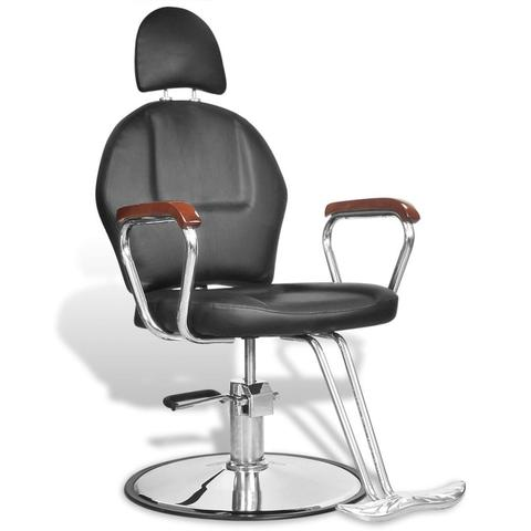 Professional Barber Chair With Headrest Artificial Leather - Black 1 item