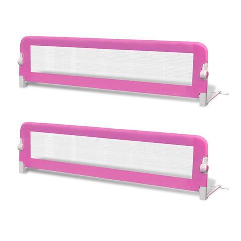Toddler Safety Bed Rail 2 Pcs Pink 150x42 Cm 1 item