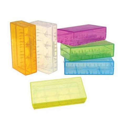 Plastic Battery Storage Case Box Colour Batteries Double Organiser Yellow 1 item