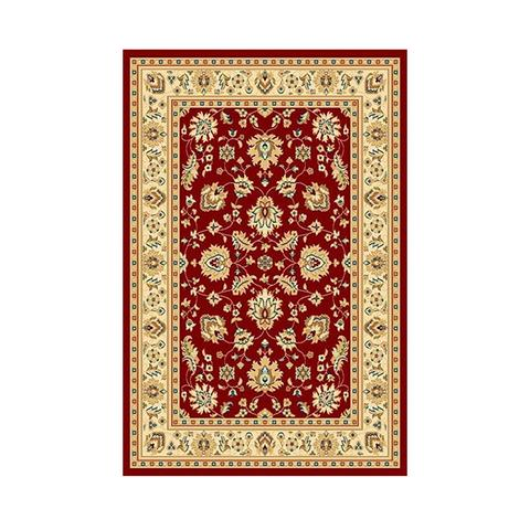 Marakesh Red Ivory Frieze Traditional Rug 80 x 150 cm