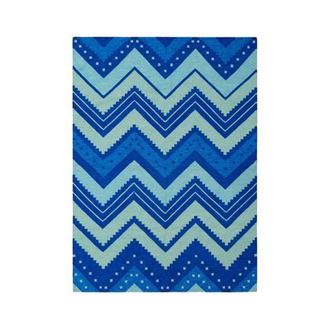 Scandinavian Telemark Ocean Blue Rug 75 x 125 cm
