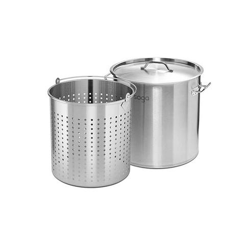 Soga 130l Stainless Steel Stockpot Perforated Stockpot Basket Strainer 1 item