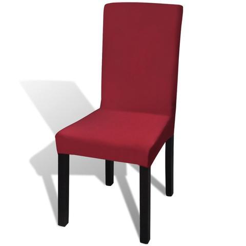 Straight Stretchable Chair Cover (6 Pcs) - Bordeaux 1 item
